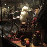 Antique bike in a shop window