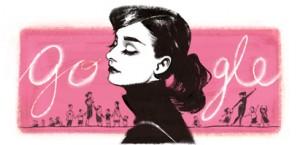 Audrey Hepburn Google Doodle from May 4, 2014